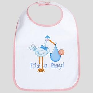 It's a Boy! Stork Bib