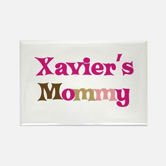 Xavier's Mommy Rectangle Magnet