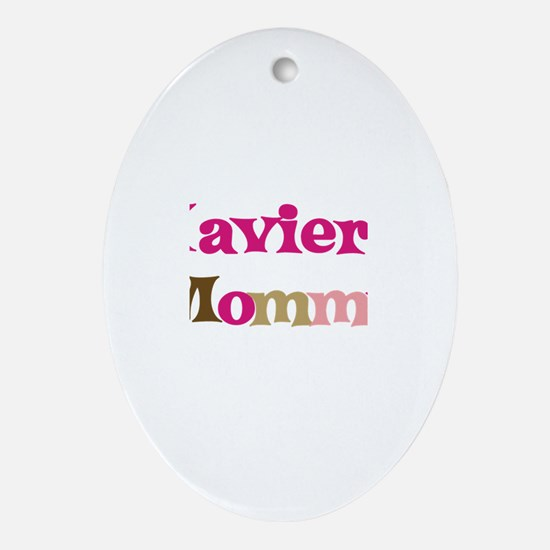 Xavier's Mommy Oval Ornament