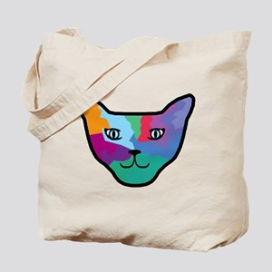 Pop Art Cat Face Tote Bag
