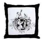 Devil Illustration Throw Pillow