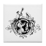 Devil Illustration Tile Coaster