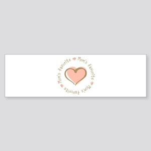 Mom's Favorite Girl Heart Bumper Sticker