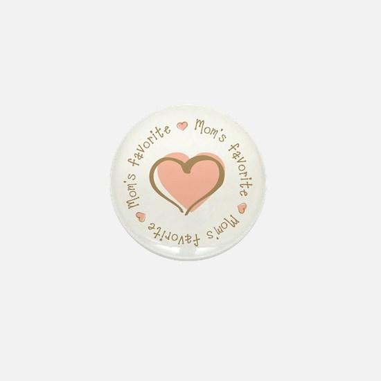 Mom's Favorite Girl Heart Mini Button