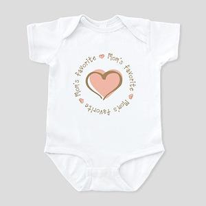 Mom's Favorite Girl Heart Infant Bodysuit