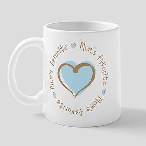 Mom's Favorite Boy Heart Mug