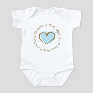Mom's Favorite Boy Heart Infant Bodysuit