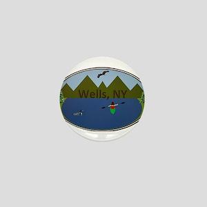 Wells, NY Mini Button