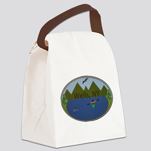Wells, NY Canvas Lunch Bag