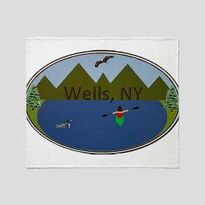 Wells, NY Throw Blanket
