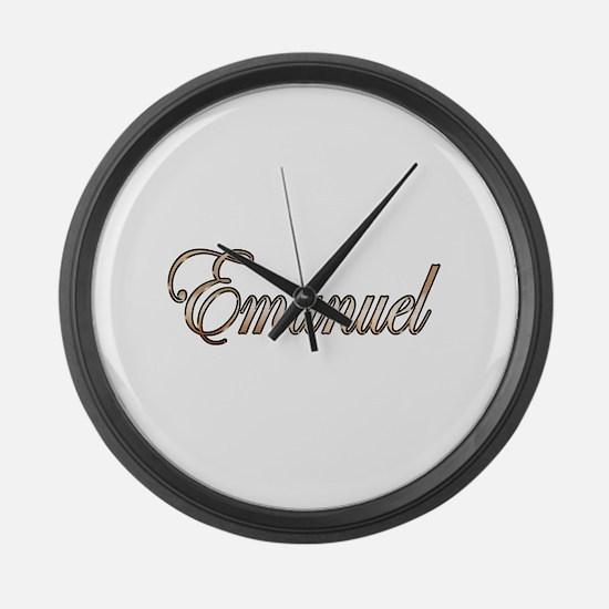 Cute Emanuel Large Wall Clock