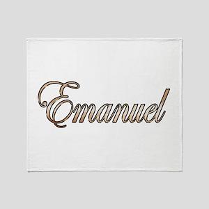 Gold Emanuel Throw Blanket