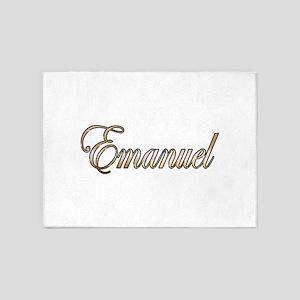 Gold Emanuel 5'x7'Area Rug