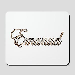 Gold Emanuel Mousepad