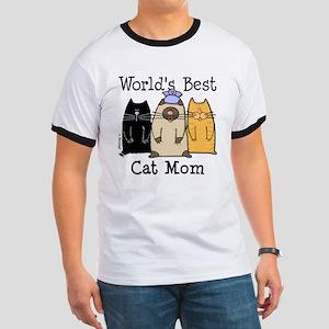 World's Greatest Cat Mom Ringer T