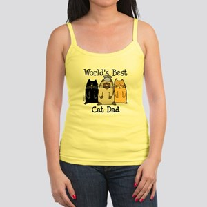 World's Best Cat Dad Jr. Spaghetti Tank