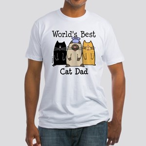 World's Best Cat Dad Fitted T-Shirt