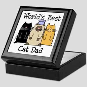 World's Best Cat Dad Keepsake Box