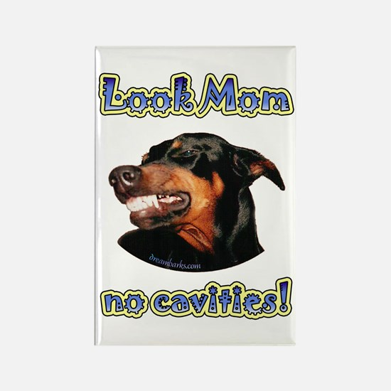 Doberman Humor II Rectangle Magnet