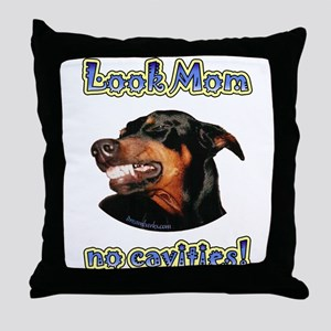 Doberman Humor II Throw Pillow