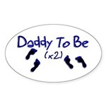 Daddy To Be (x2) Oval Sticker