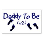 Daddy To Be (x2) Rectangle Sticker