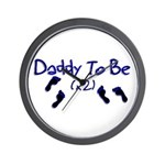 Daddy To Be (x2) Wall Clock