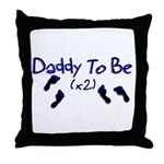 Daddy To Be (x2) Throw Pillow