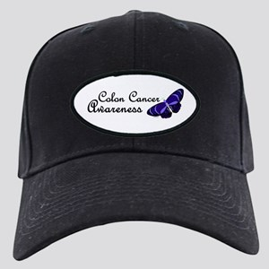 Butterfly Awareness 3 (Colon Cancer) Black Cap