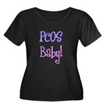 PCOS Baby! Women's Plus Size Scoop Neck Dark T-Shi