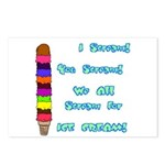I scream, Ice Cream Postcards (Package of 8)