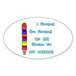 I scream, Ice Cream Oval Sticker