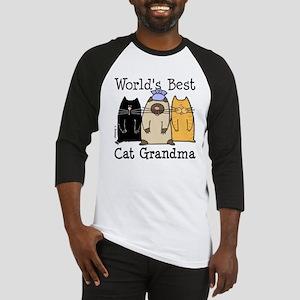 World's Best Cat Grandma Baseball Jersey