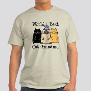 World's Best Cat Grandma Light T-Shirt