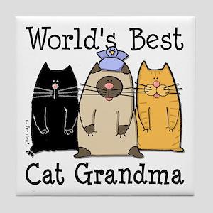 World's Best Cat Grandma Tile Coaster