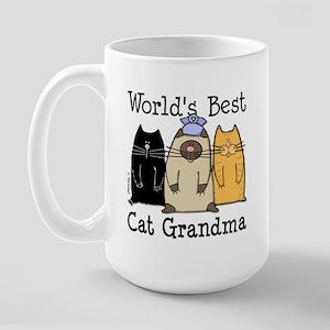 World's Best Cat Grandma Large Mug