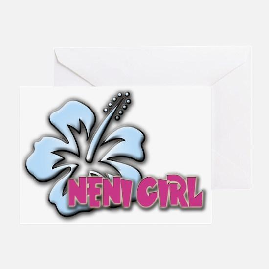 Neni Girl Greeting Card