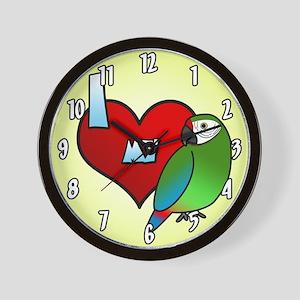 I Love My Buffon's Macaw Clock (Cartoon)