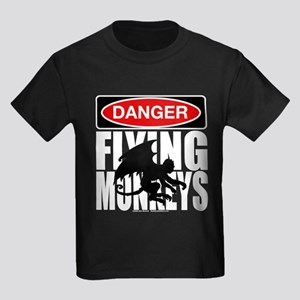 Kansas - Danger, Flying Monkeys! Kids Dark T-Shirt