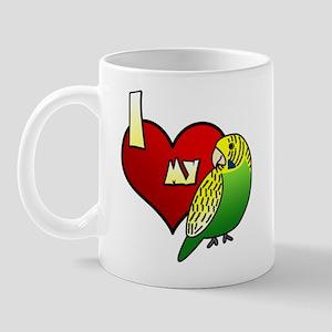 Love Green Budgie Mug