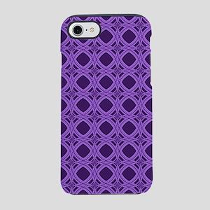 Diamond Curves Purple Shades iPhone 8/7 Tough Case