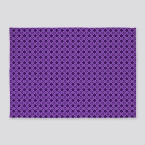 Diamond Curves Purple Shades 5'x7'Area Rug