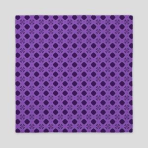 Diamond Curves Purple Shades Queen Duvet