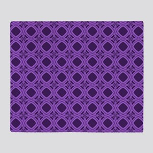 Diamond Curves Purple Shades Throw Blanket