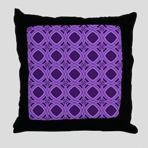Diamond Curves Purple Shades Throw Pillow