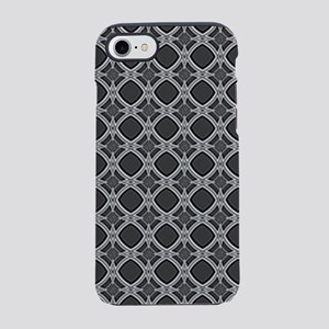 Diamond Curves Charcoal iPhone 8/7 Tough Case