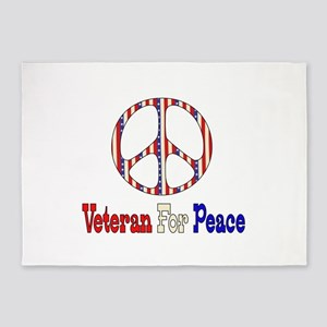 Veteran For Peace 5'x7'Area Rug