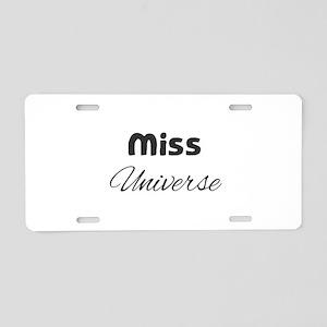 Miss Universe Aluminum License Plate
