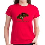 Women's Dark T-Shirt-FLATHEAD RAT ROD
