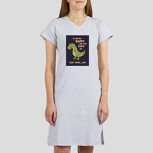 t-rex-clap-2-LG Women's Cap Sleeve T-Shirt
